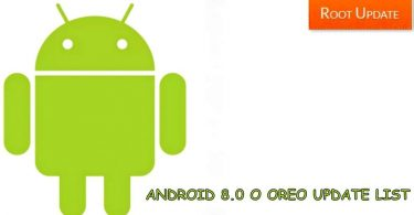 ANDROID 8.0 OREO UPDATE LIST