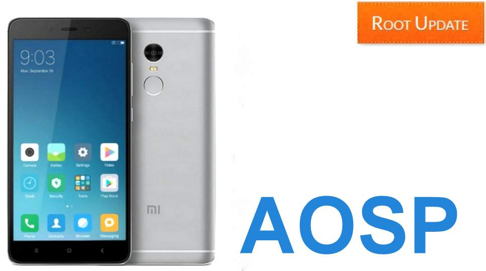 AOSP CUSTOM ROM FOR REDMI NOTE 4