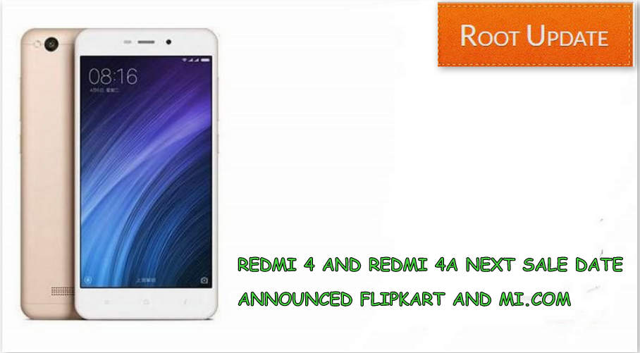 REDMI 4A NEXT SALE DATE ANNOUNCED