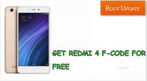 GET REDMI 4 F-CODE FOR FREE TO BUY