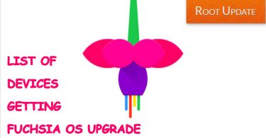 list of devices getting fuchsia os upgrade