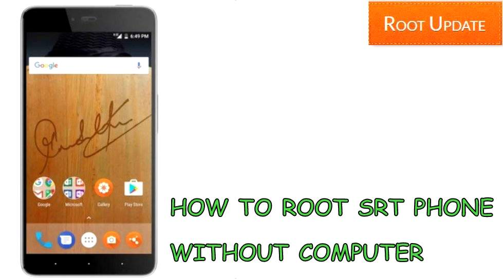 how to root srt phone without using computer
