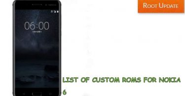 List of Custom rom for Nokia 6