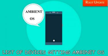 LIST OF DEVICES SUPPORTED BY AMBIENT OS UPDATE
