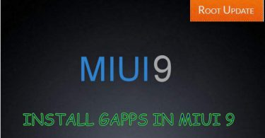 Install Gapps in Miui 9