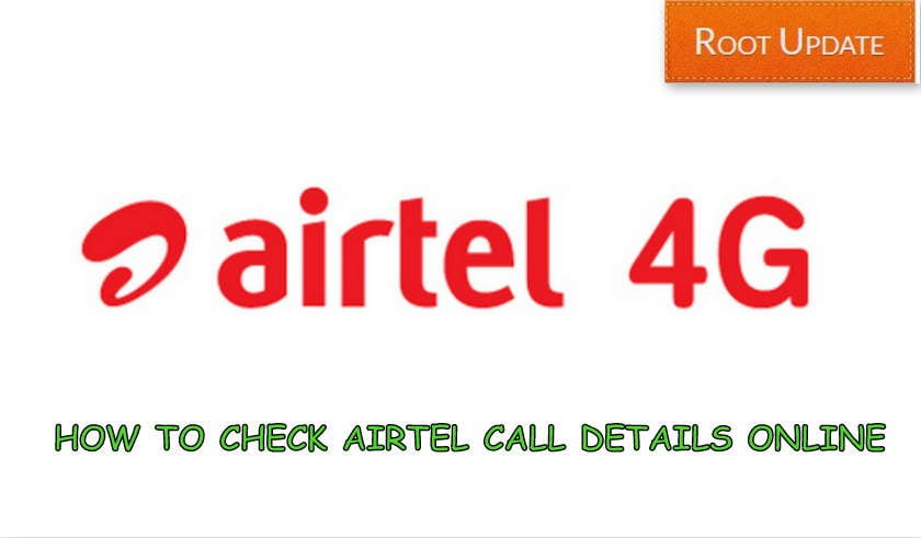 Check Airtel Call Details online