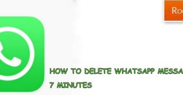 HOW TO DELETE WHATSAPP MESSAGE AFTER 7 MINUTES