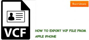 Export iphone contacts to VCF File