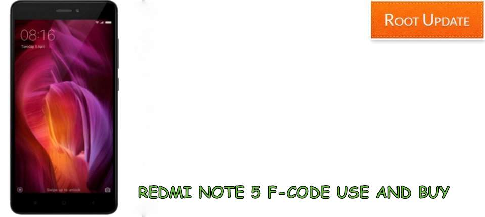 REDMI NOTE 5 F-CODE HOW TO GET AND BUY