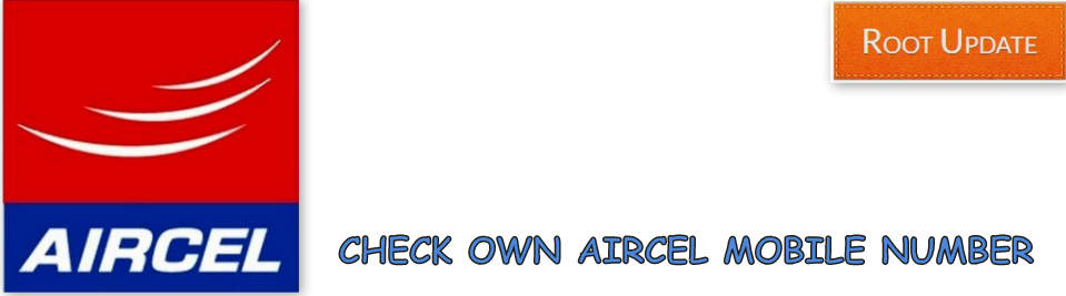 Check Own Aircel Mobile Number