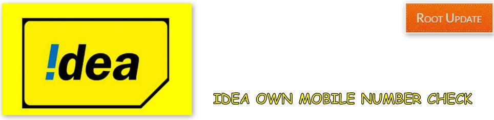 Check Own Idea Mobile Number
