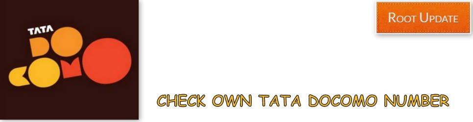 Check Own TATA Docomo Mobile Number