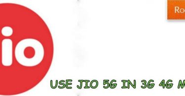Use jio 5g in 3G 4g mobile