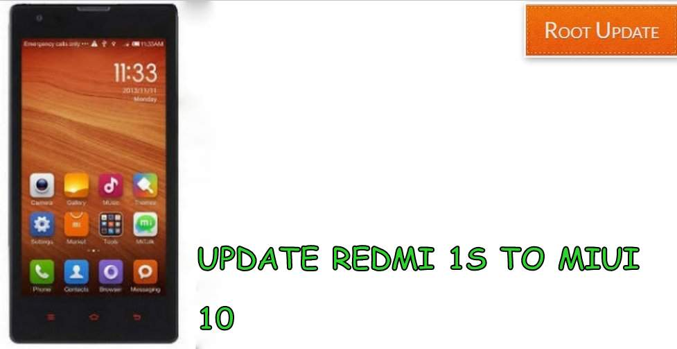 Update redmi 1s to Miui 10