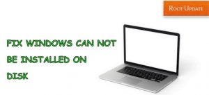 Fix Windows Cannot be Installed on Disk 0 Partition 1 Error