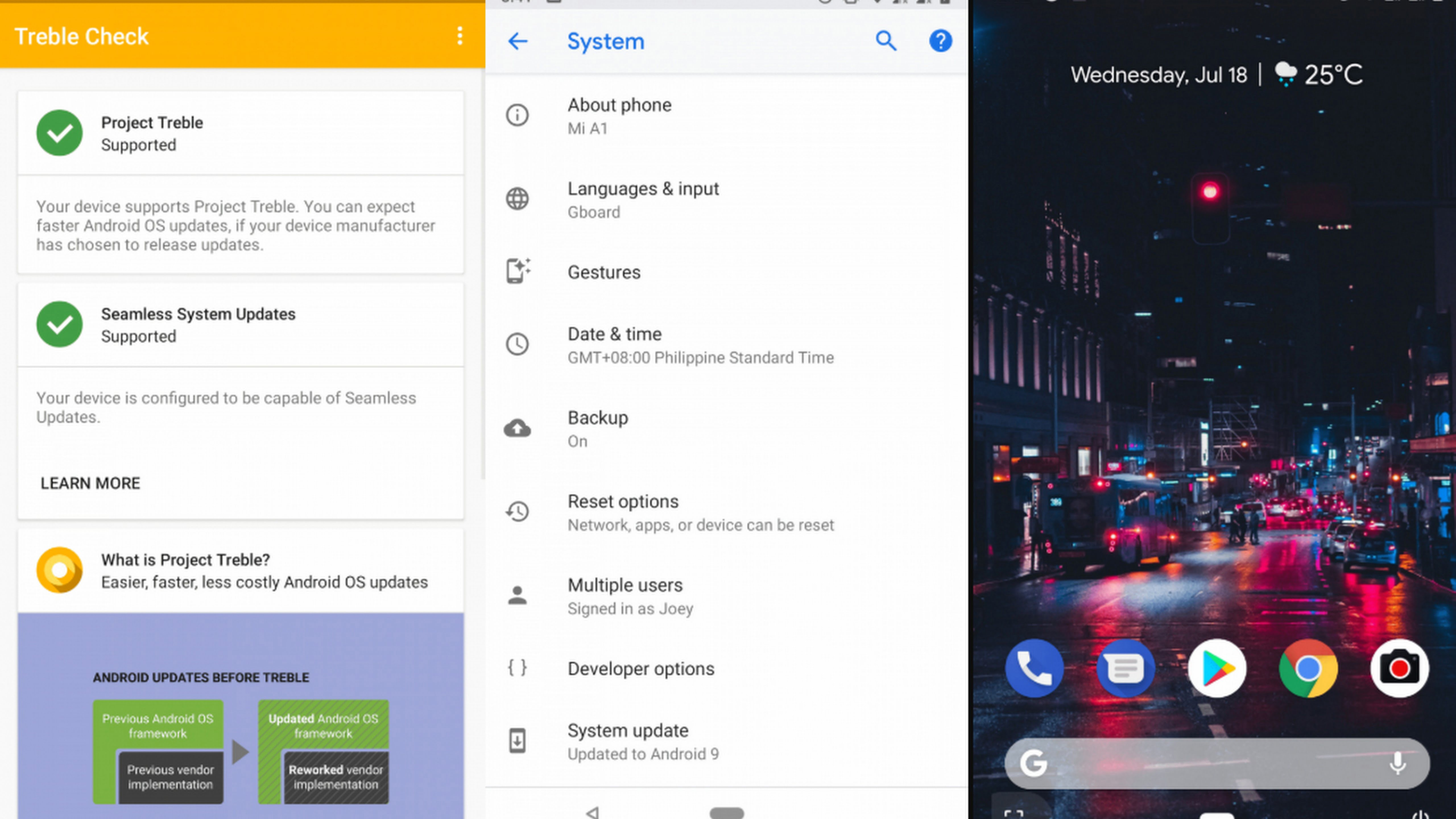 Update Mi A1 to Android 9.0 P