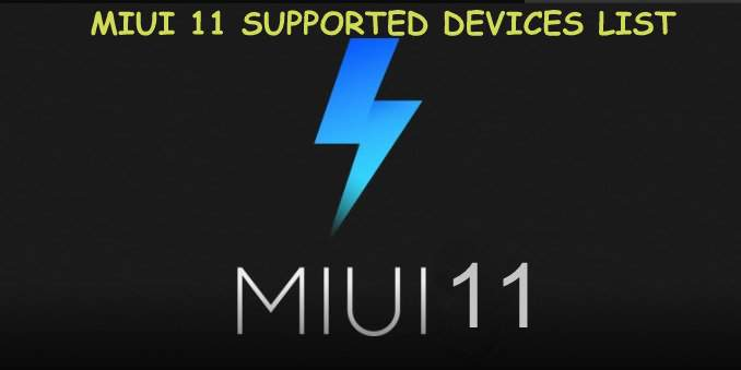 MIUI 11 supported Devices List