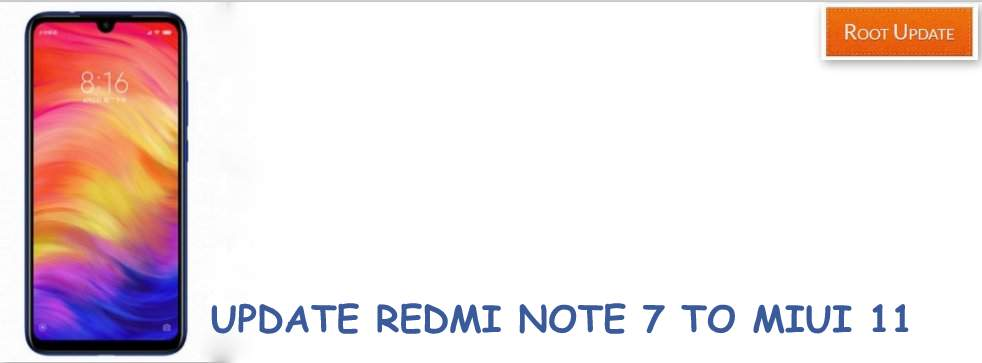 Update Redmi note 7 to Miui 11
