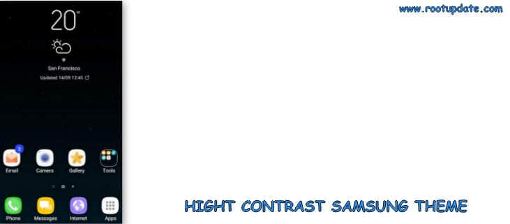 High Contrast Samsung Theme