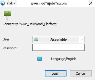 Entering the password for YGDP tool