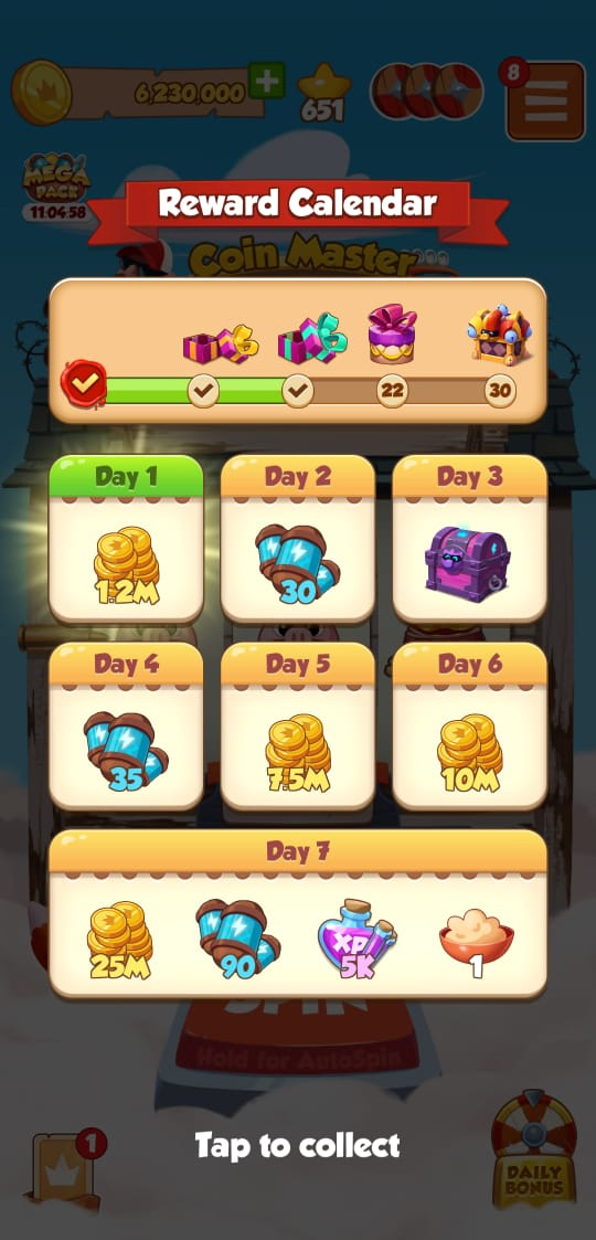 Rewards Calendar
