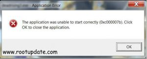"""0xc00007b """"the application was unable to start correctly"""