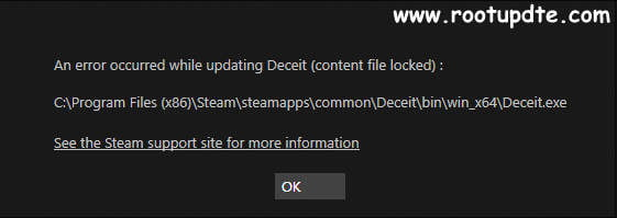 Content file locked steam