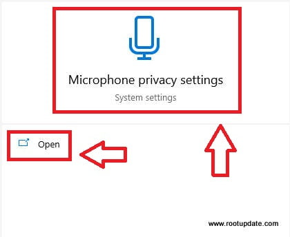 Opening Microphone settings