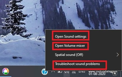 Opening Sound Settings