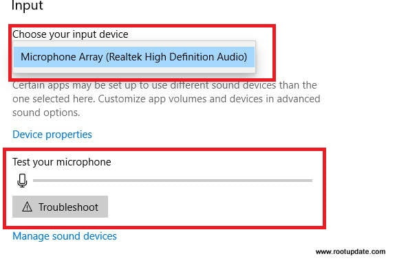 Changing Microphone settings