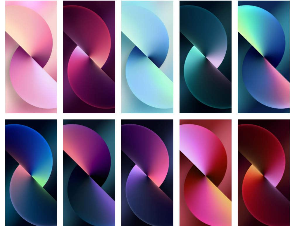 iPhone 13 Stock Wallpapers Preview